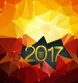 Happy new year 2017 polygonal background vector image vector image