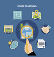 house searching concept vector image vector image
