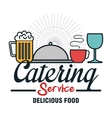 Icon catering service food design