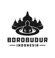 indonesian borobudur temple logo vector image vector image
