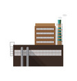modern industrial factory building with pipe vector image