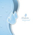 Natural background with water drops vector image