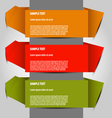 option templates vector image