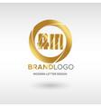 premium am logo in gold beautiful logotype design