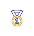 reward medal line icon winner achievement vector image