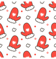 Seamless pattern background with mittens vector image vector image