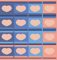 seamless pattern hearts pastel vector image