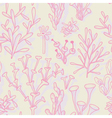 Seamless pattern with abstract corals vector image