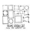 set frame doodle hand drawn sketch line eps10 vector image vector image