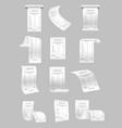 set paper print checks and vector image