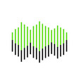 sound waves icon green 3d icon with black vector image vector image