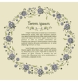 Template for textblock with floral round frame vector image vector image