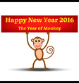 the year monkey vector image vector image