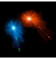 two stars with lens flares vector image