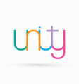 unity text design graphic vector image vector image