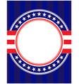 usa flag symbols round border frame vector image vector image