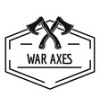 war axe logo simple black style vector image vector image