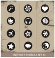 Web internet symbols set grunge style vector image vector image