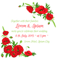 Wedding Vintage Invitation Card vector image vector image