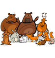 Wild forest animals group cartoon