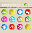sport balls icons vector image