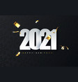 2021 new year luxury on dark vector image vector image