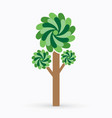 abstract tree graphic vector image