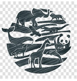 animals icon pencil drawing vector image vector image