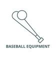 baseball equipment line icon baseball vector image