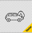 black line burning car icon isolated on vector image vector image