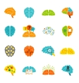 Brain icons flat vector image