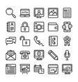 business and office line icons 19 vector image vector image