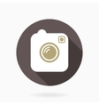 Camera Icon With Flat Design vector image
