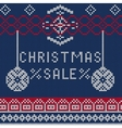 Christmas sale Knitted 1 vector image vector image