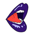comic cartoon open mouth vector image vector image