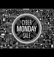 cyber monday sale black banner vector image