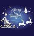 deer merry christmas poster template vector image vector image