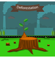 deforestation2 vector image