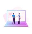 distant online medicine consultation smart vector image