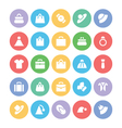 Fashion Colored Icons 1 vector image vector image