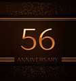fifty six years anniversary celebration logotype vector image vector image