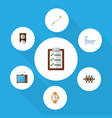 flat icon oneday set of boardroom questionnaire vector image