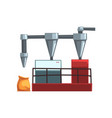 flour grinding equipment for bread production vector image vector image