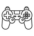 gamepad control icon outline style vector image vector image