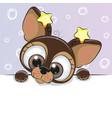 greeting card cute cartoon dog vector image vector image