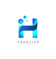 h letter logo design with 3d and ribbon effect vector image vector image