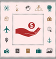hand holding money - dollar symbol elements for vector image