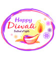 happy diwali poster with white background and text vector image