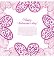 Happy valentines day card vector image vector image