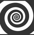 hypnotic spiral swirl circular vector image